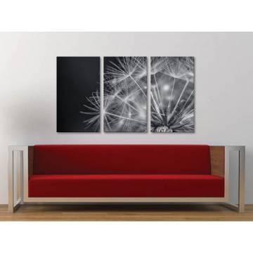 Három részes vászonkép - Magic dandelion - varázslatos pitypang vakrámára feszített vászonkép no.3a-100180