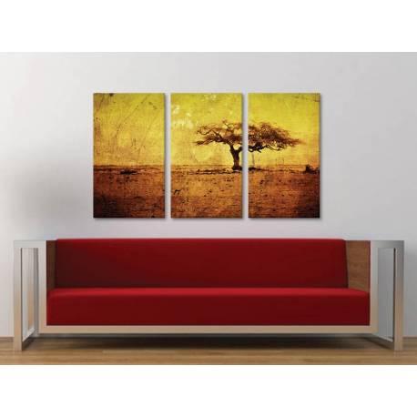 Három részes vászonkép - Vintage tree - antik fa vakrámás vászonkép - no. 3a-100168