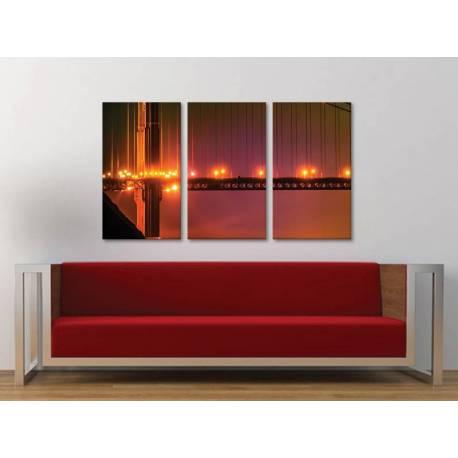 Három részes vászonkép - Bridges and lights - hidak és fények vászonkép - 3a-100191
