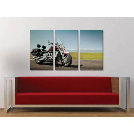 Három részes vászonkép - Triumph power - motoros vászonkép 3a-100229