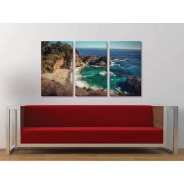 Három részes vászonkép - Rocky beach - sziklás tengerpart - vászonkép 3a-100237