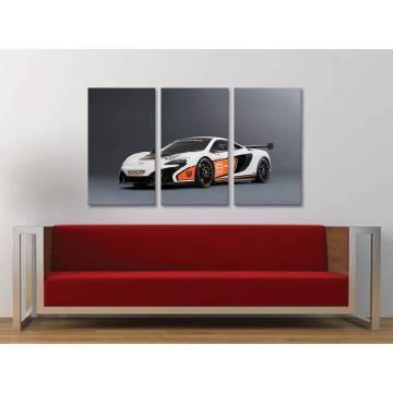 Három részes vászonkép - Racing - Mclaren 650 - vászonkép 3a-100250