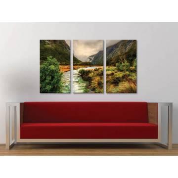 Három részes vászonkép - Mountain streamlet - hegyi patak vászonkép 3a-100293