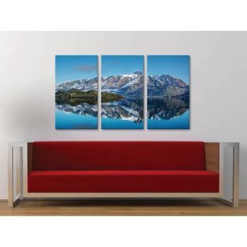 Három részes vászonkép - Mountain reflexion - tükrözõdõ hegy - vászonkép 3a-100295