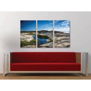 Három részes vászonkép - Sweden landscape - Svéd tájkép 3a-100323