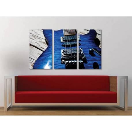 Három részes vászonkép - The Blue Guitar vászonkép 3a-100343