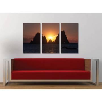 Három részes vászonkép - Glowing - izzás naplemente vászonkép 3a-100367