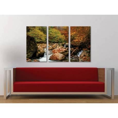 Három részes vászonkép - Stony brook - hegyi patak vászonkép 3a-100382