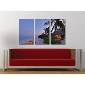 Három részes vászonkép - Voice of ocean - az óceán hangjai - tengerpart vászonkép 3a-100386