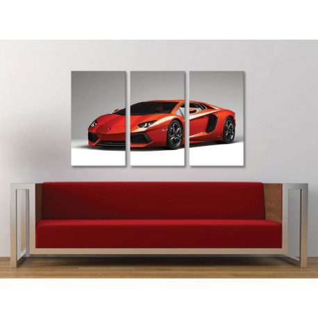 Három részes vászonkép - Lamborghini vászonkép 3a-100407