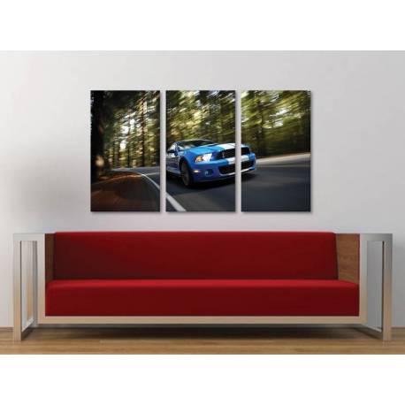 Három részes vászonkép - Ford Shelby GT 500 - vászonkép 3a-100451
