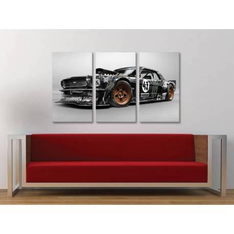 Három részes vászonkép - Power car - autós vászonkép - 3a-100452