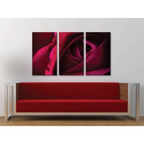 Három részes vászonkép - Mystic Rose - Misztikus Vörös Rózsa - vászonkép 3a-100468