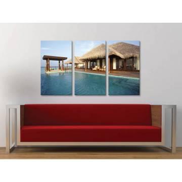 Három részes vászonkép - Just Relax - Kikapcsolódás a Tengerparton - vászonkép 3a-100480