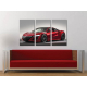 Három részes vászonkép - The Red Monster - Honda - Autós vászonkép 3a-100479
