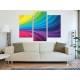 Három részes vászonkép - Color curves - színes ívek - vakrámára feszített vászonkép no. 3a-100157