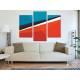 Három részes vászonkép - Colours & Lines - színes formák - no. 3a-100160