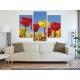 Három részes vászonkép - Tulips in yellow & red - piros és sárga tulipánok - no. 3a-100164