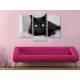 Három részes vászonkép - The black cat legend - fekete macska vászonkép 3a-100188 - 2