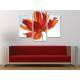 Három részes vászonkép - Red petals in the sun - vörös szirmok a fényben - vászonkép 3a-100211 - 2