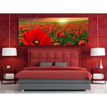 Poppy meadow - Pipacsmezõ - vakrámára feszített vászonkép no. 100152