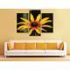 Három részes vászonkép - Yellow flower - sárga virág vászonkép 3a-100233 - 2