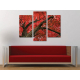 Három részes vászonkép - Red leaf tree - vörös levelek vászonkép 3a-100236