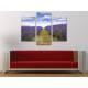 Három részes vászonkép - Lavender field - levendula mezõ vászonkép 3a-100243