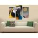 Három részes vászonkép - Parrot colors - színes papagáj vászonkép 3a-100278 - 2