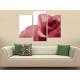Három részes vászonkép - Bloomy rose - piros rózsa - vászonkép 3a-100288 - 2