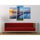 Három részes vászonkép - Golden Gate Sunset - Naplemente és a Golden Gate híd vászonkép 3a-100319
