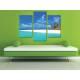 Három részes vászonkép - Just relax - pálmafák és tengerpart vászonkép 3a-100332 - 2