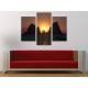 Három részes vászonkép - Glowing - izzás naplemente vászonkép 3a-100367 - 2