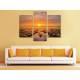 Három részes vászonkép - Burning Sunset - naplemente vakrámás vászonkép - 3a-100430