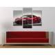 Három részes vászonkép - The Red Monster - Honda - Autós vászonkép 3a-100479 - 2