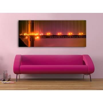Bridges and lights - hidak és fények vászonkép - 100191