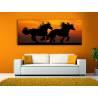 Horses at sunset - lovas vászonkép - 100203