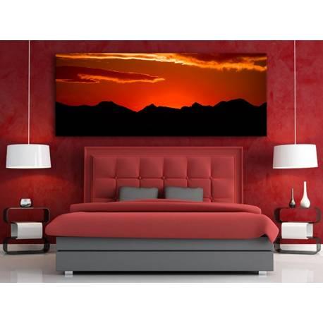 Sunset silhouette - naplemente - vászonkép 100212