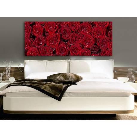 Red roses for ladies - vörös rózsák - vakrámára feszített vászonkép