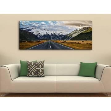 Mountain road - út a hegyekhez vászonkép 100219