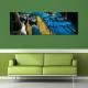 Colorfull - színes papagáj - vászonkép