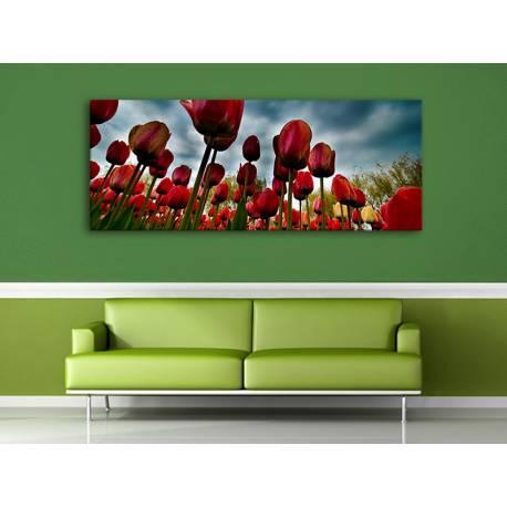 Tulips waiting the storm - tulipánok vihar előtt vászonkép 100226