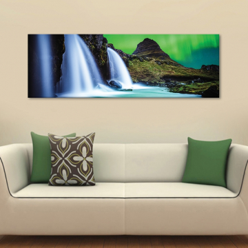 Nordic waterfall - vízesés északon - vászonkép