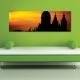 Silhouette castle - vászonkép - 1