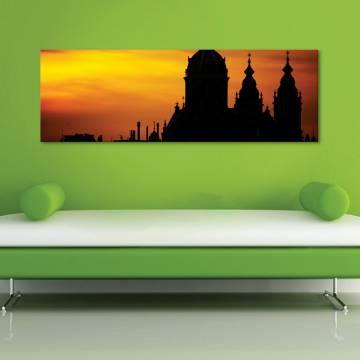 Silhouette castle - vászonkép