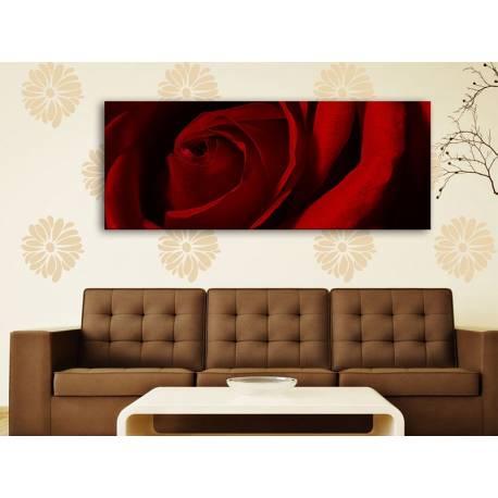 Red rose makro - vörös rózsa vászonkép 100230