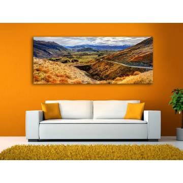 Mountain valley völgy a hegyek közt vászonkép 100231