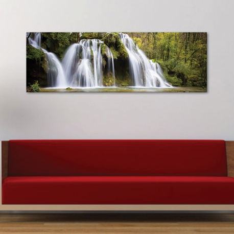 Crystal waterfall - vízesés - vászonkép