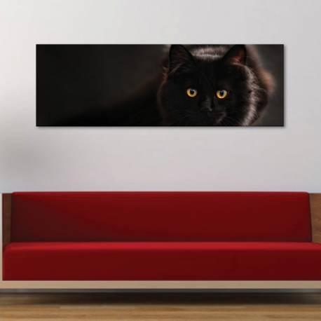 Black hunter - fekete macska - vászonkép - 1
