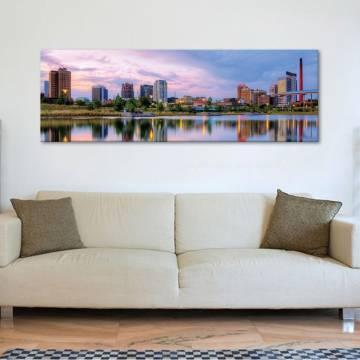 City reflection - Nagyváros - vászonkép